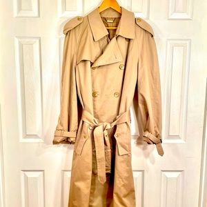 VINTAGE SANYO BELTED LINED TRENCH COAT S-38R